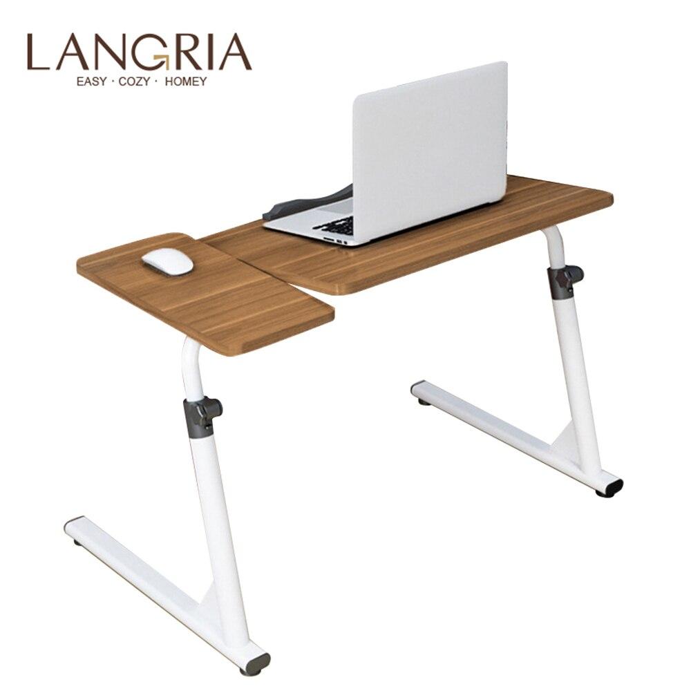Portable réglable pliant ordinateur Portable Table ordinateur bureau ordinateur Portable Table de lit ordinateur Table peut être levé debout 80*40 cm