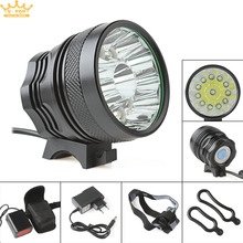 18000lm impermeable 12 x cree xm-l t6 led super brillante acampar pesca bicicleta ciclismo flashing light lamp + cargador
