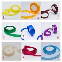 300yards Lot 2cm Single Face Satin Ribbon Wholesale Gift Packing Christmas Ribbons Wedding Party Decoration Gift