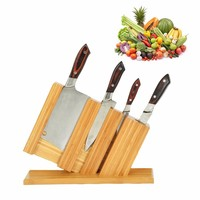 Creative Nan Bamboo Knife Holder Kitchen Supplies Multi purpose Storage Racks Solid Wood Storage Knife Stand Block