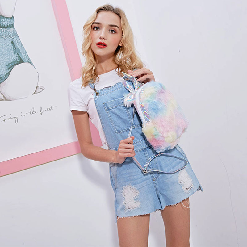 Fashion Cute Unicorn Women Backpacks Cartoon Kawaii Bagpacks Leather Hologram Women Girls School Bags Leather Backpack Mochila #3