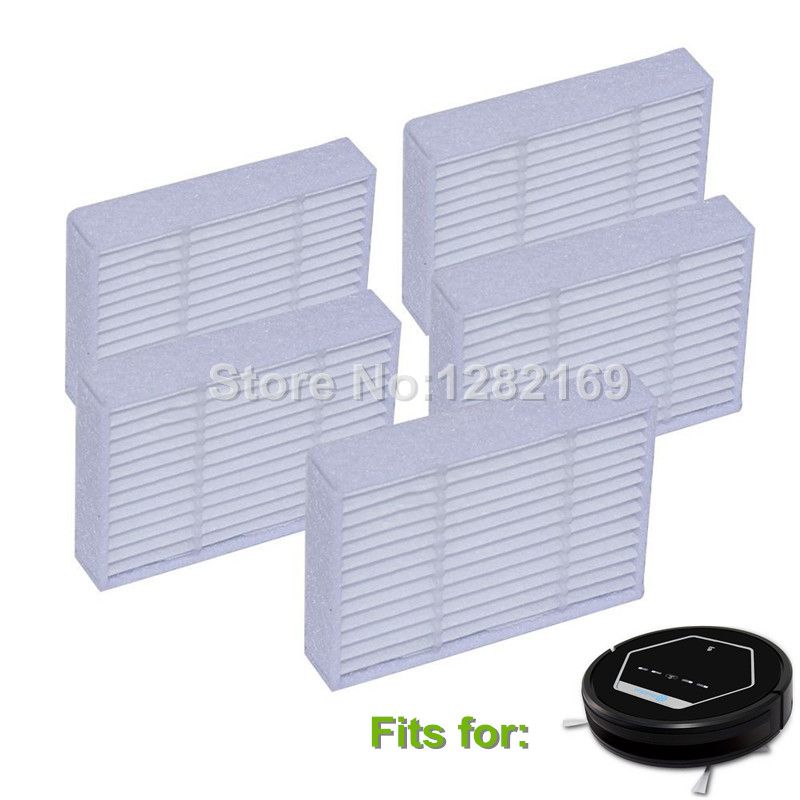 5 pieces/lot Robot HEPA Filter Accessory for RolliBot BL618,Cleanmate s800 Robotic Vacuum Cleaner Parts 2pcs robotic vacuum cleaner robotic parts pack hepa filter for xiaomi mi robot filters cleaner accessories