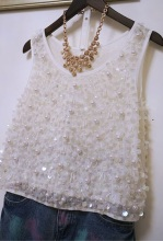 YZV020 Europe Retro Womens heavy Beaded sequined sleeveless vest/pearl vest/women beading vest/camisole/suspenders/Underwear