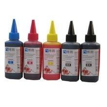 5 цвет чернил на основе красителя для Canon 100 мл пополнения чернил комплект 100 мл бутылки оптом Universal Ink многоразового картридж СНПЧ для canon принтер