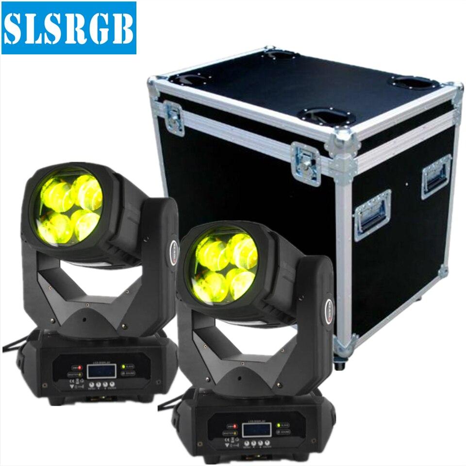 2XLOT&flight case Blizzard Nova 4*25W Colorful 130W LED Super Beam Moving Head For Disco Nightclub DJ Bar Gobo led stage light