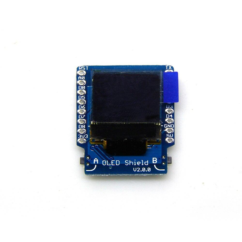 D1 mini OLED Shield V2.0.0 0.66 inch 64X48 IIC I2C two button development board oled shield for espea arduino development board