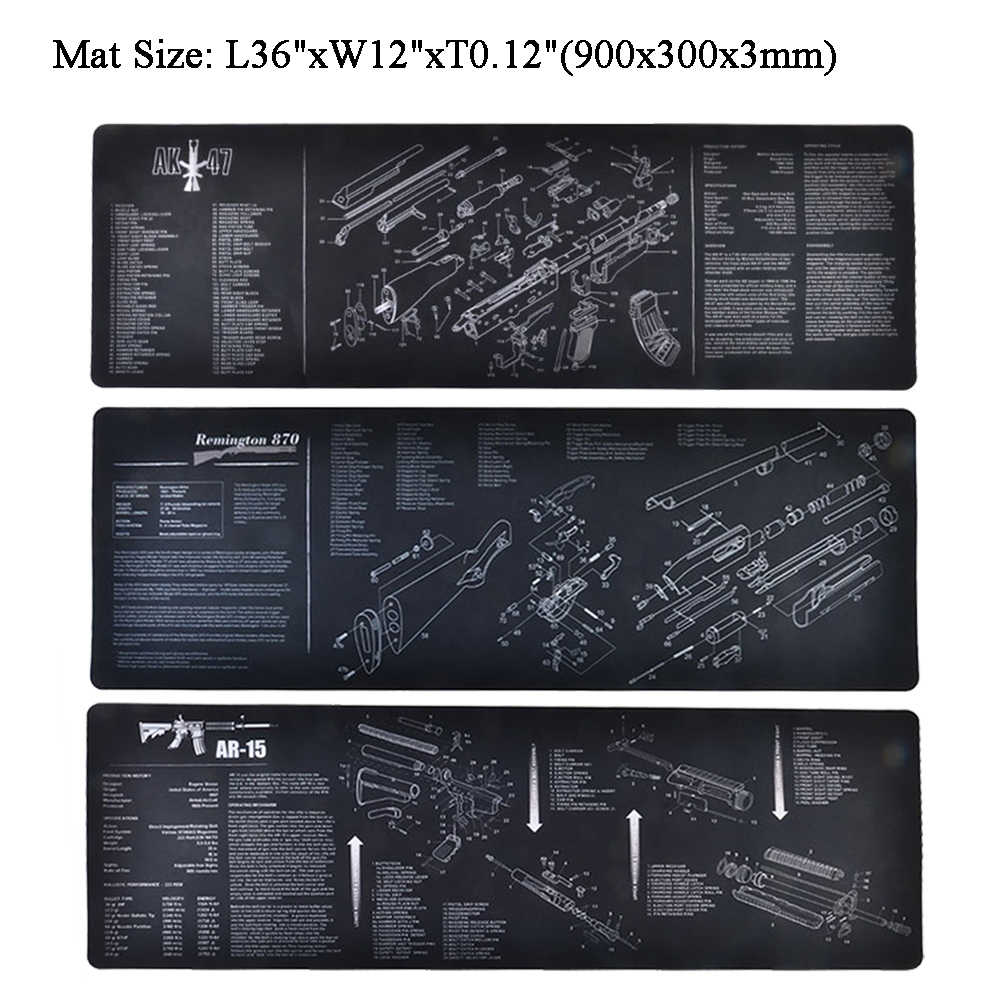 tactical cleaning mat rubber carpet waterproof non slip bench with diagram parts and instructions ak47  [ 1000 x 1000 Pixel ]