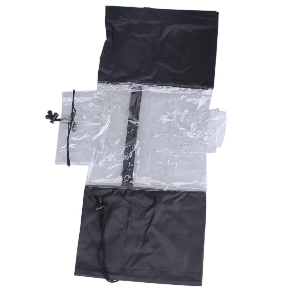 Waterproof Camera Cover Anti-Dust Protector Rain Water Case Camera Rain Cover Raincoat Transparent Black for Canon 5D3 70D 6D цена