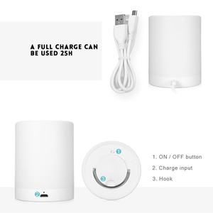 Image 5 - נטענת חכם LED מגע בקרת לילה אור אינדוקציה דימר המיטה חכמה נייד מנורת Dimmable RGB צבע שינוי