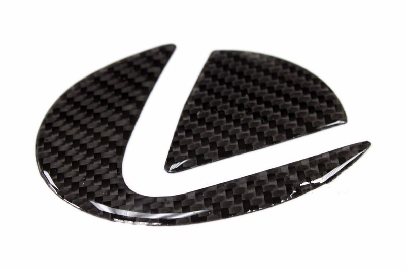 Carbon Fiber Trunk Emblem Insert Filler Decal For 06-13 Lexus IS F Sport 250 350