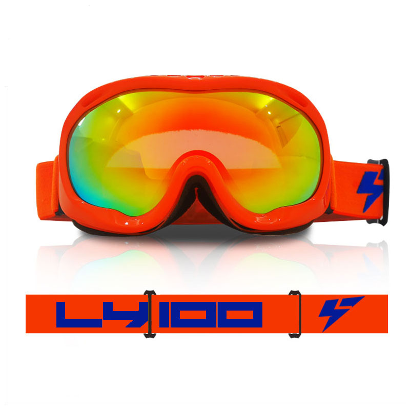LY-100 Professional Ski Goggles Double Lens UV400 Men Women Snow Eyewear Snowboard Glasses Ski Snow Goggles Free Shipping H09