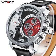 Hot sale! Oversized WEIDE  men quartz 1 year guarantee military watches sports full steel luxury brand Free shipping /WH3301