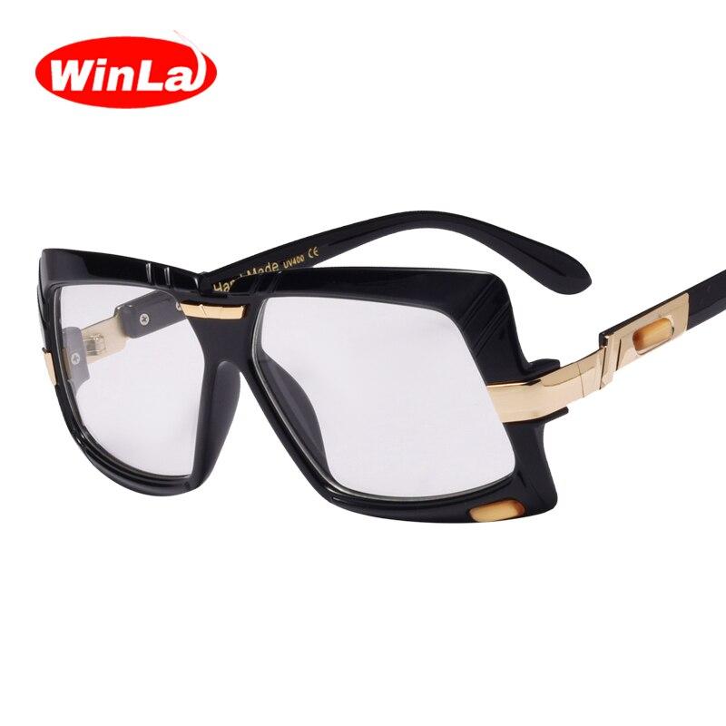 Winla Quadrados Óculos de Armação Lerdo Lente Transparente Mulheres Homens  de Moda de Nova Estilo Vintage 725816f745