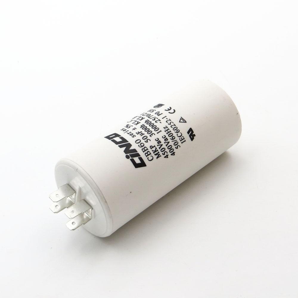 цена на CBB60 Motor Run Capacitors 50uF 400V 450V 4pins SH DB Polypropylene Film Ac 450VAC Water Pump electrical engine 50mfd 50mf