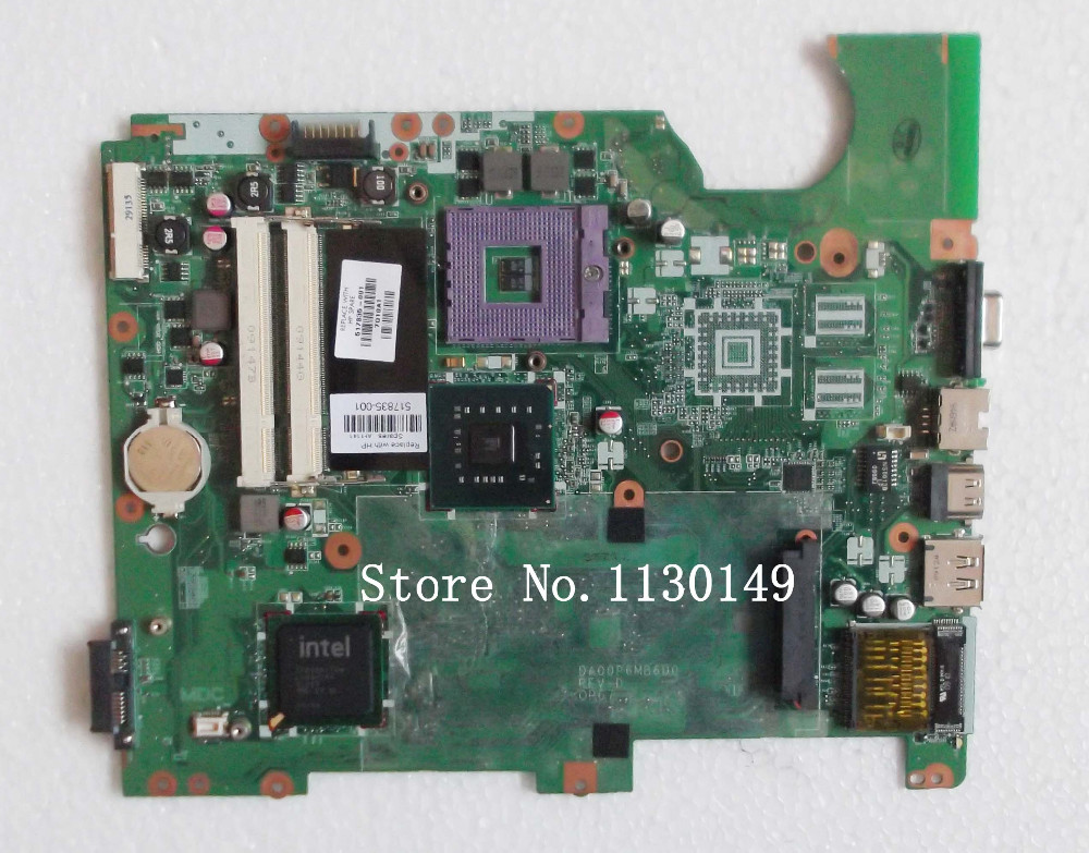 ФОТО for HP G61 Compaq Presario CQ61 series 517835-001 GL40 laptop motherboard fully tested & working perfect