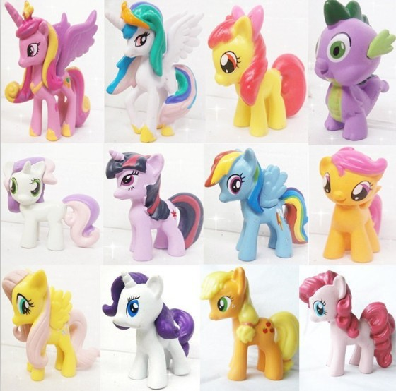 12 pieces / set little pvc Action Toy Figures horse Princess Celestia luna Unicorn plush doll - - Multi colored little pieces платье little pieces модель 28949119