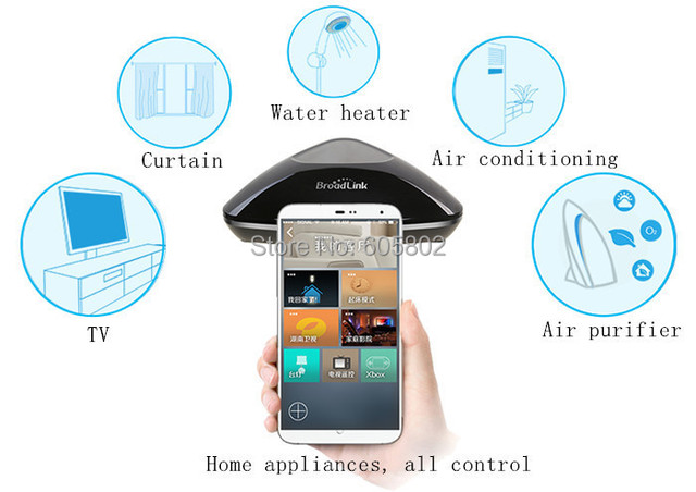 Broadlink Rm Pro RM2 , control all motors with Android and IOS cellphone and PAD as simple samrt home