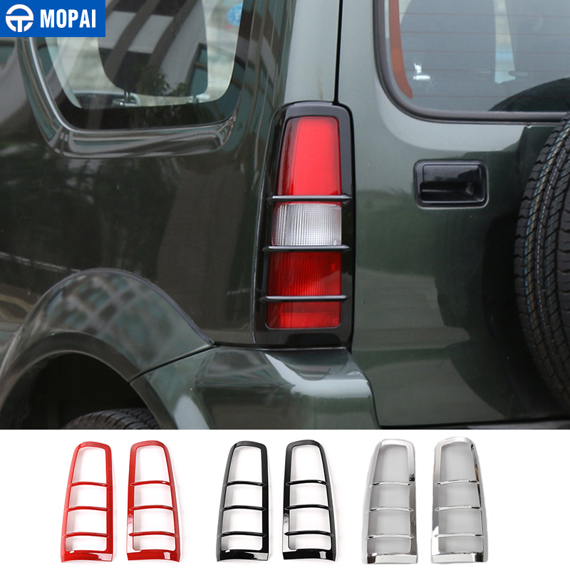 MOPAI ABS Car Exterior Tail Light Lamp Guards Decoration Cover Stickers For Suzuki Jimny 2007 Up Car Styling mopai new arrival car exterior rear triangle glass decoration cover stickers for jeep compass 2017 up car styling