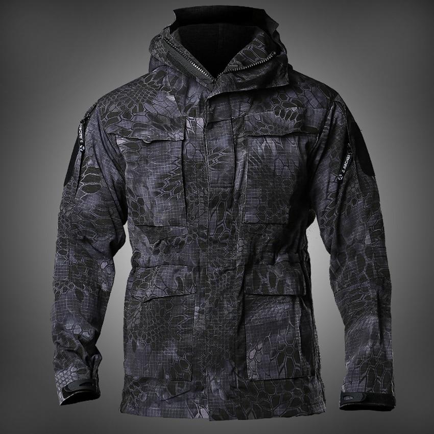New mens m65 영국 미 육군 복장 군사 필드 재킷 겨울/가을 방수 비행 파일럿 코트 까마귀 윈드 브레이커 4 색-에서재킷부터 남성 의류 의  그룹 1
