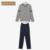 Qianxiu outono casais tarja conjuntos de pijama listada no novo estilo popular confortável pijama sleepwear terno para os homens 1690
