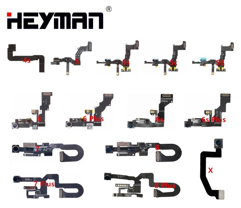 Heyman flex Câble pour Apple iPhone 4S/5/5S/5C/SE/6 Plus/6 SPlus/7 Plus/8/X/appareil-photo Avant module (avec capteur de proximité, microphone)