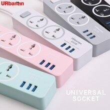 Urbantin USB Power streifen Erweitert Linie Smart Home Elektronik Universelle Buchse Smart Stecker Reise Adapter Für EU AU UK UNS