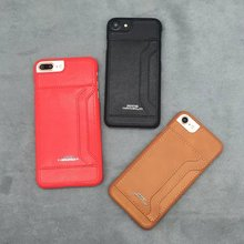 Japan fashion leather insert card series Real Leather Case Porter for iphone 6 6s 6p Cover back 7 plus  недорого
