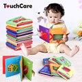Dom tela libro del juguete del bebé mordedor bebé aprendizaje temprano educación toys 0-12 meses animales niños libro suave bebé sonajeros
