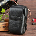 High Quality Genuine Leather Cowhide Fanny Waist Pack Men Casual Vintage Hip Bum Coin Purse Cell/Mobile Phone Case Skin Belt Bag