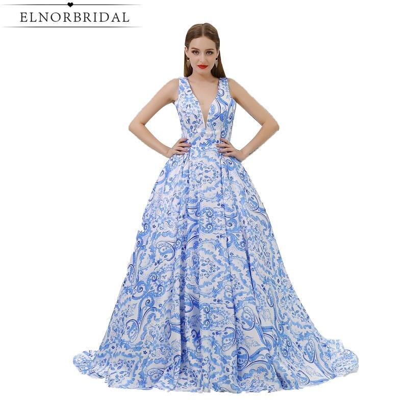 Aqua Prom Dresses Cheap 2017 Deep V Neck Illusion Back Formal Women