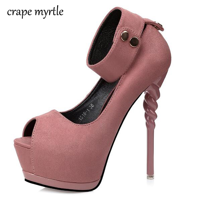 platform pumps sexy high heels Pumps Women dress party Shoes peep Toe Platform Pumps Shoes pink summer shoes ladies heels YMA67 black 8 inch ultra high heels peep toe shoes platform heels women fashion patent leather dress shoes sexy shoes