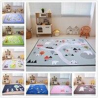 Cartoon Animals/Runway/Star Carpet Kids Room Soft Fleece Bedroom Carpet Sofa Living Room Rug Children Crawling Tatami Floor Mat