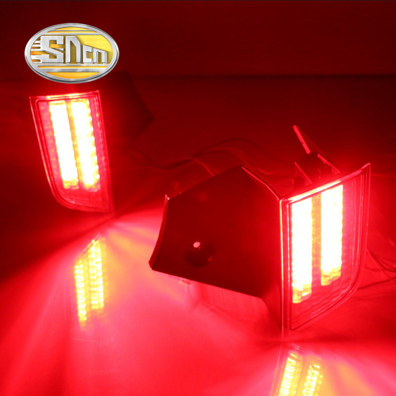 ФОТО SNCN Multi-function LED Rear Bumper Light Rear Fog Lamp Auto Bulb Brake Light Reflector For Mitsubishi Pajero Sport 2016 2017
