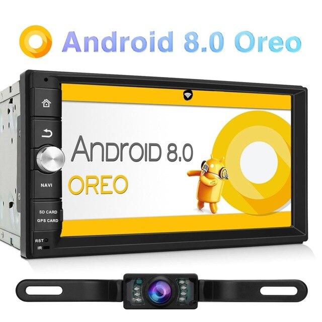 Pumpkin 2 Din 7''Android 8.0 Universal GPS Octa-core 2G RAM 32G ROM Car Radio Stereo Audio No DVD Player Wifi Fast Boot Headunit