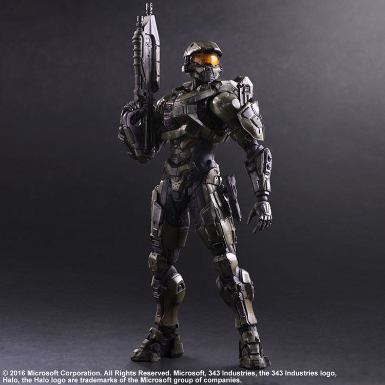 все цены на Elsadou Play Arts PA KAI HALO 5 Guardians No.1 Master Chief Action Figure Toy Doll Collection 25cm