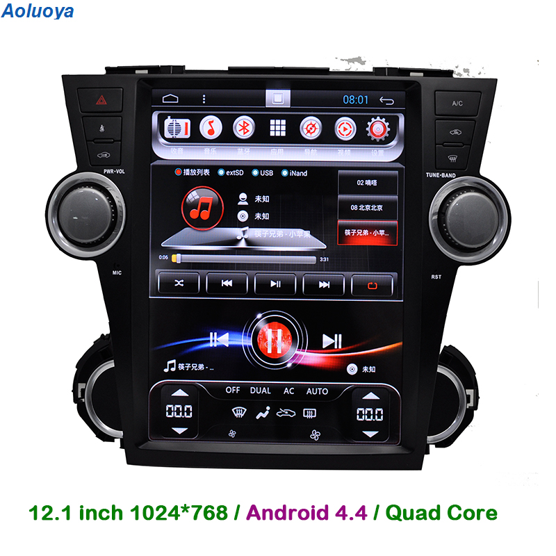 2012 Toyota Highlander Limited: Aoluoya Quad Core Android 4.4 CAR DVD PLAYER For Toyota