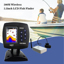 LUCKY Fish Finder 300M Wireless Fishfinder 3.5inch TFT LCD Depth Sounder Sensor Transducer Fishing Detector Monitor FF918-CWL