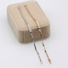 JINYAO, модное ювелирное изделие, 170 мм, простой кристалл AAA+ циркон, Белый/цвет шампанского, золотой цвет, браслеты, хорошее ювелирное изделие, подарок