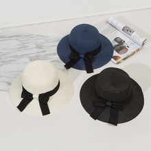 Summer Hats Shade-Hat Bow-Design Uv-Protection Fashion High-Quality Lady Brimmed Beach
