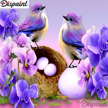 Dispaint Full Square/Round Drill 5D DIY Diamond Painting Birds and flowers 3D Embroidery Cross Stitch 5D Home Decor A10971 рюкзак lowe alpine lowe alpine airzone trek 45 55 синий 45 55