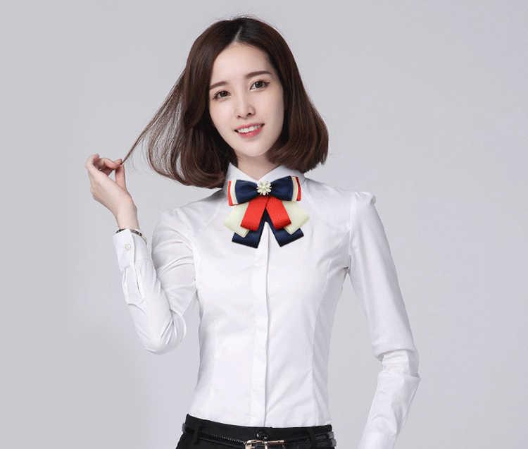 I-Remiel lindo lazo broche trabajo negocios bancos ropa lazos alfileres y broches mujer británica camisas abrigo accesorios