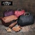 2016 Vintage Genuine Leather Women Handbag Messenger Bag Cowhide Casual Hobo Bag