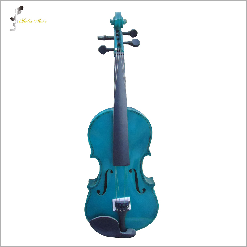 Green Violin 4/4 1/4 3/4 1/2 1/8 Size Violin in Full Set with Bow, Rosin and CaseColorful Violins Many Colors Available 4