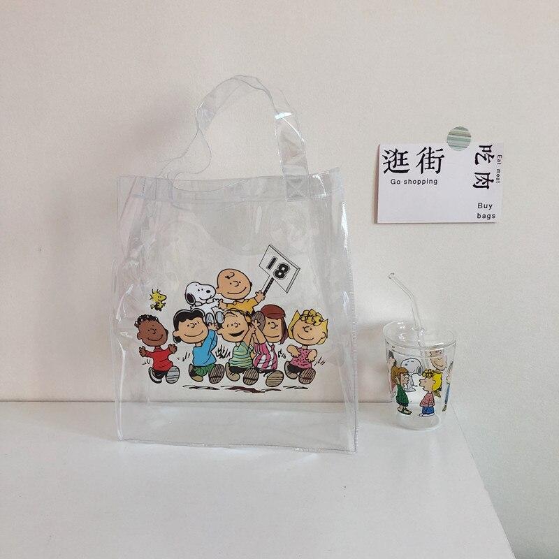 Cheng Pin Ins Rogue Dog Colorful Pattern Popular Fashion Beach Bags Pencil Bag Waterproof Totes Handbag Document Bag 5