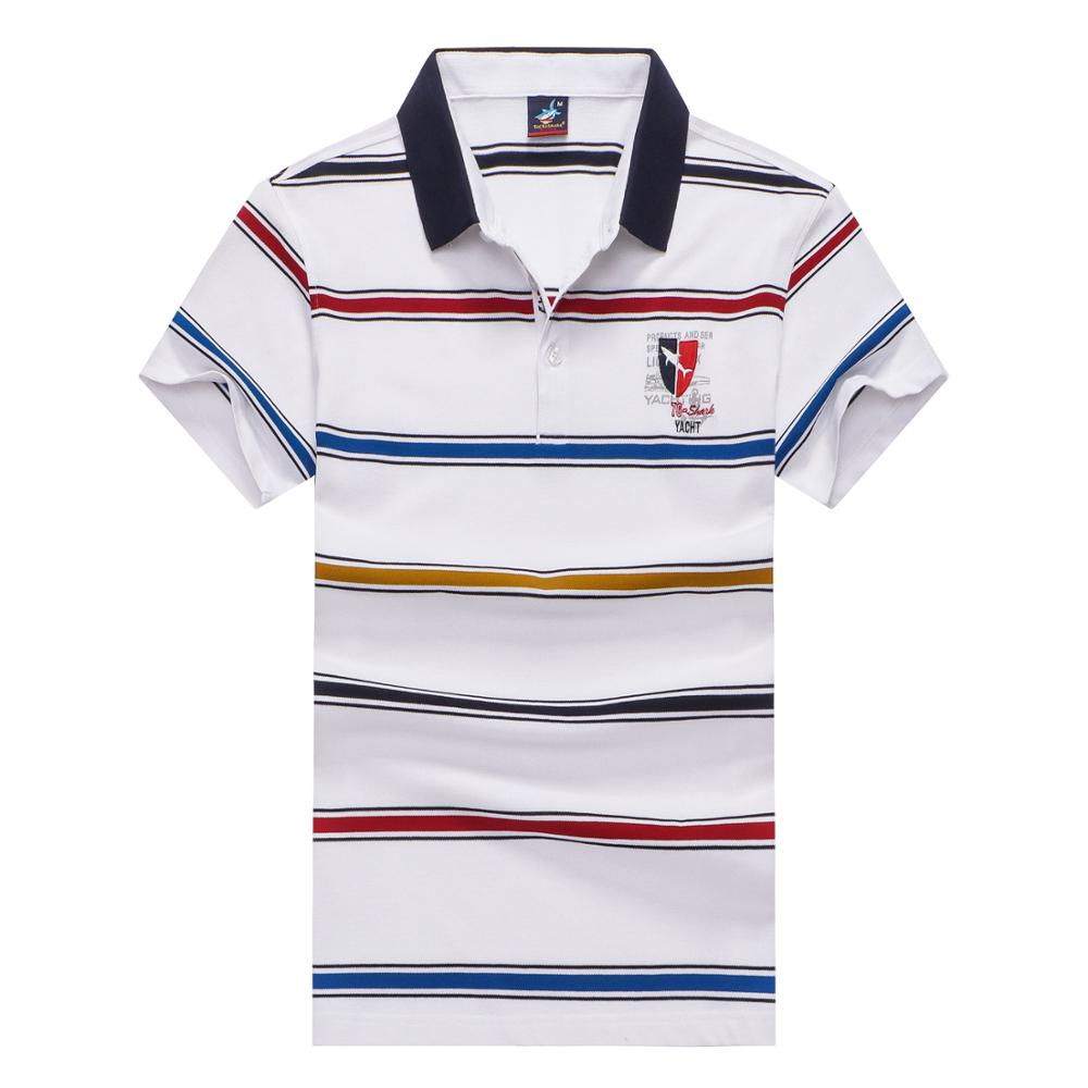 2018 High Quality Summer Short Sleeved   POLO   Business Style men's brand Shark   polo   shirt fashion strip color   Polo   shirt
