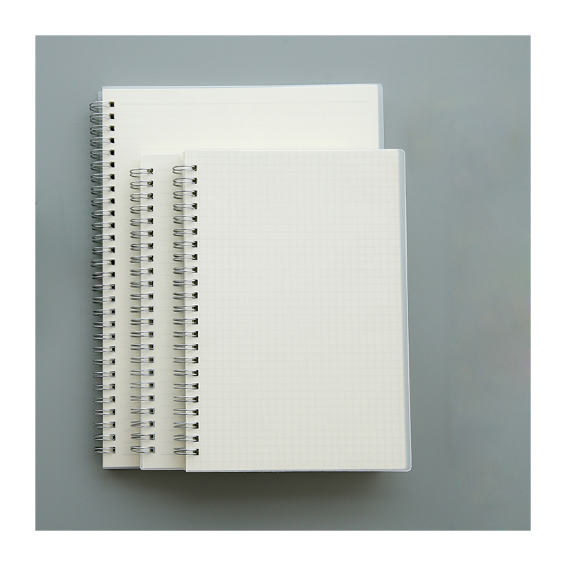 PP plastic cover A5 B5 A4 coil spiral notebook 23 holes paper blank notebook notebook season b5 18k26