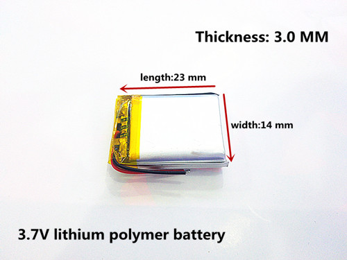 polymer lithium battery 301423 3.7V 110MAH MP3,MP4,MP5,GPS,DVD,Bluetooth headset small speaker toy