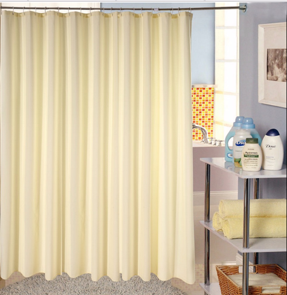 High Grade Solid Color Polyester Shower Curtains
