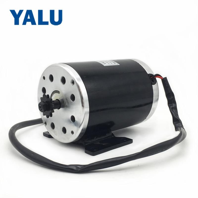 MY1020 1000W 36 / 48V 3000RPM vysokorychlostní zpětný elektrický kolo skútr tříkolka kolo DIY díly stejnosměrný motor s montážní konzolou