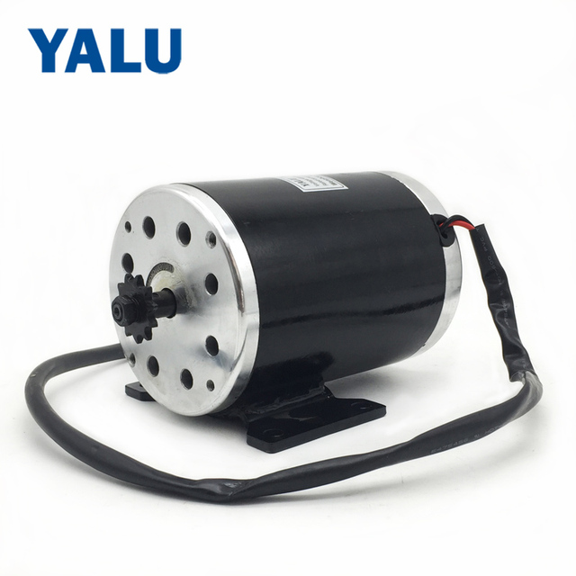MY1020 1000W 36/48V 3000RPM high speed Reverse Electric Bicycle Scooter Tricycle Bike DIY Parts DC Motor with Mounting bracket